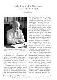 Nachruf auf Gerhard Hartmann 5.12.1938 - Deutsche Zoologische ...