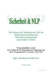 Wie können die Methoden des NLP im ... - SecureLINE