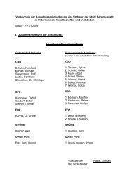 Verzeichnis der Ausschussmitglieder und der Vertreter der Stadt ...
