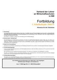 Fortbildung - vLw Stiftung NRW eV