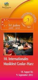 Flyer 2012 - Internationales Musikfest Goslar - Harz