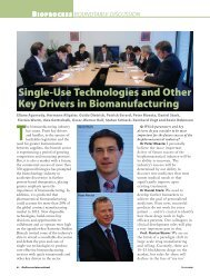 Single-Use Technologies and Other Key Drivers in Biomanufacturing