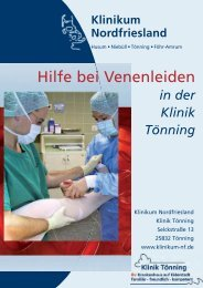 Hilfe bei Venenleiden Klinik Tönning - Klinikum Nordfriesland