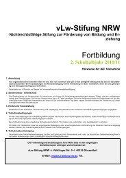 vLw-Stifung NRW Fortbildung - vLw Stiftung NRW eV
