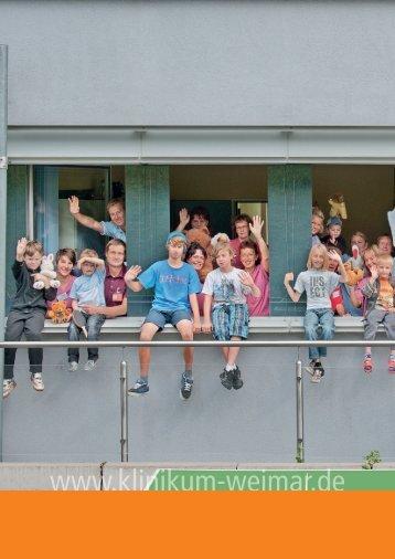 """""""100 Jahre Kinderklinik Weimar"""" des Klinikums - Das Sophien"""