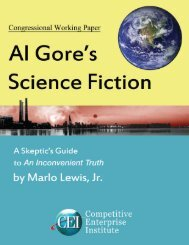 Al Gore's Science Fiction - Competitive Enterprise Institute