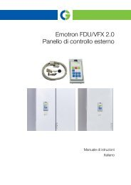 Emotron FDU/VFX 2.0 Panello di controllo esterno