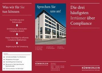 Die drei häufigsten Irrtümer über Compliance