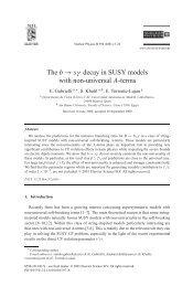 The b → sγ decay in SUSY models with non ... - Emidio Gabrielli
