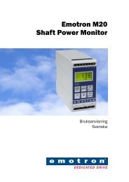 Emotron M20 Shaft Power Monitor