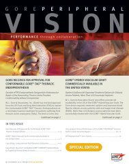 Peripheral Vision VEITH Special Edition 2011 - Gore Medical