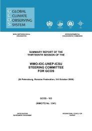 WMO-IOC-UNEP-ICSU STEERING COMMITTEE FOR GCOS
