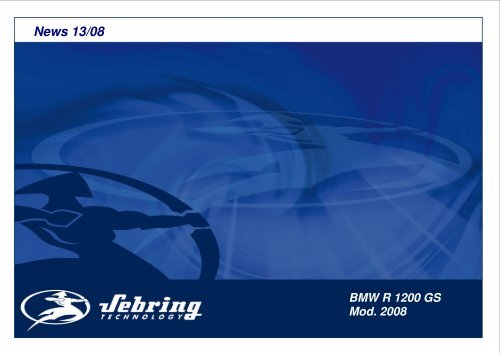 News 13 2008 BMW R 1200 GS ab 08 030408 - Sebring
