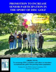 promotion to increase senior participation - Professional Disc Golf ...