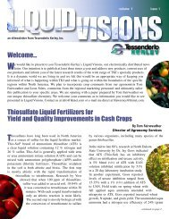 Thiosulfate Liquid Fertilizers for Yield and Quality Improvements in ...