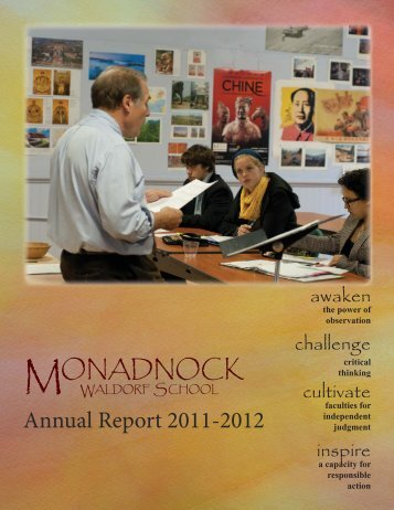Annual Report 2011-2012 FINAL.indd - Monadnock Waldorf School