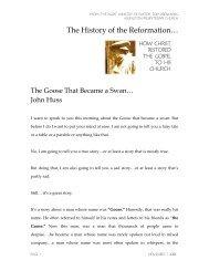 The Goose That Became a Swan… John Huss - Monergism.com