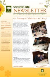 Fall 2009 NEWSLETTER - Jewish Foundation of Manitoba