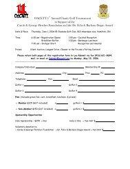 OACETT 1st Annual Charity Golf Tournament