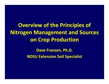 Overview of the Principles of N-Fertilizer Management
