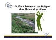 Golf mit Prothesen am Beispiel einer Knieendoprothese - gesundes ...