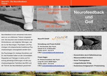 Neurofeedback und Golf - Neurofit Akademie