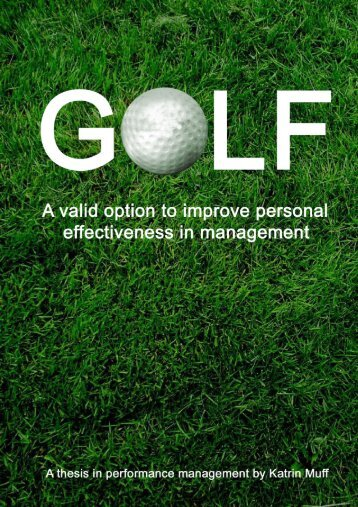 6. personal effectiveness in golf - Fore-Leader