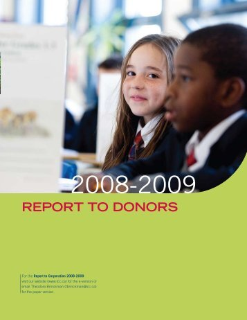 REPORT TO DONORS - Lower Canada College