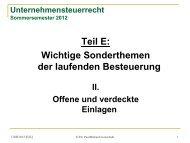 C VERDECKTE/SCHLICHTE EINLAGE - gottschalk-rechtsanwaelte.de