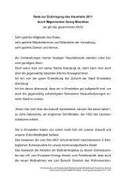 Rede Einbringung Haushalt 2011 - in der Stadt Emsdetten
