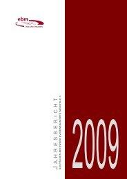 Jahresbericht 2009 - Deutsches Netzwerk Evidenzbasierte Medizin eV