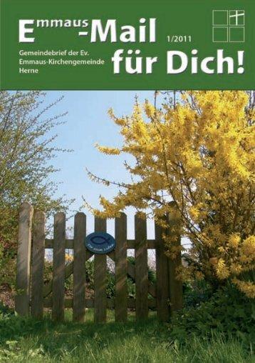 Konfirmation 2011 - Ev. Emmaus-Kirchengemeinde Herne