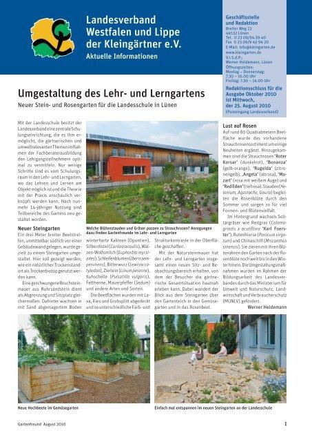 Landesverband Braunschweig Gartenfreunde eV Umgestaltung des