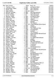 Ergebnisse 10,0km Lauf (10K) 1. Themsen ... - TSV Neuenwalde