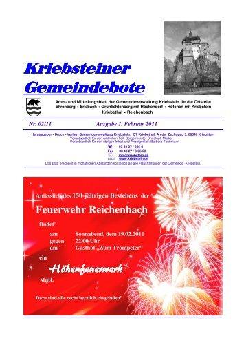 Kriebsteiner Gemeindebote - Gemeinde Kriebstein