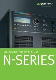 N-series multifunction generators n5 + n7 - EM Test