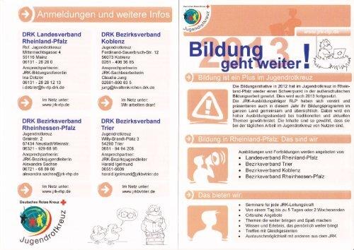 DRK Landesverband Rheinland-Pfalz DRK Bezirksverband DRK ...