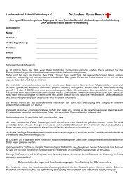 Antrag für Kreisbereitschaftsleitungen - DRK Landesverband Baden ...