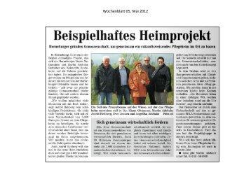Methusalem arrangiert sich für ein Seniorenhaus in Horneburg