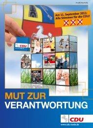 Am 11. September 2011: Alle Stimmen für die CDU!