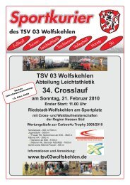 Ausgabe 4/2009 herunterladen - TSV 03 Wolfskehlen
