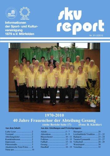 1970-2010 40 Jahre Frauenchor der Abteilung ... - SKV Mörfelden
