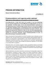 PRESSE-INFORMATION - EMW Eisen- und Metallhandel GmbH