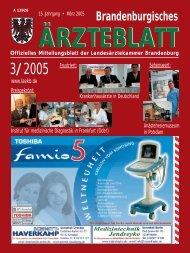 03_2005_Maerz.qxd - Landesärztekammer Brandenburg