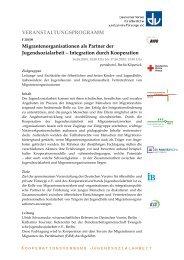 Integration durch Kooperation - Lokale Bündnisse für Familie