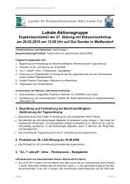 Leader im Kooperationsraum Aller-Leine-Tal Lokale Aktionsgruppe ...
