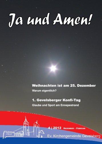 Gemeindebrief 4 2012 - der evangelischen Kirchengemeinde ...