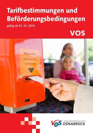 Fahrpreise VOS und VOS Plus - Verkehrsgemeinschaft Osnabrück