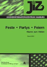 Feste • Partys • Feiern - Räume zum Mieten (Stand 2003) - Jiz