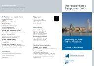 Interdisziplinäres Symposium 2013 - Endokrinologikum